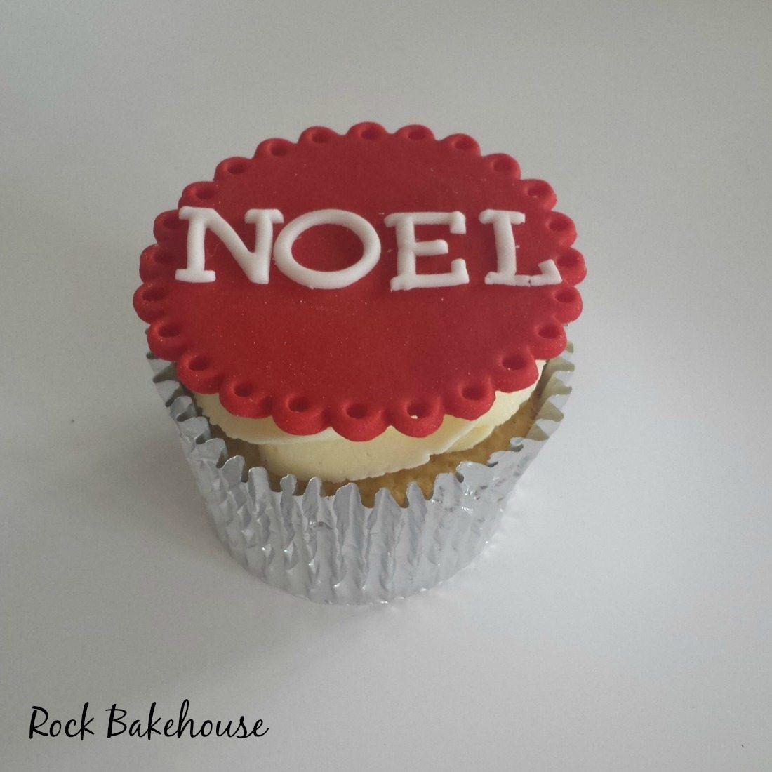 Noel Christmas Cupcake Topper