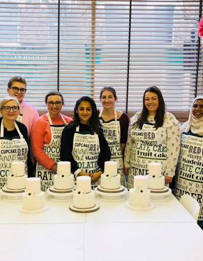 Two Tier Cake Decorating Class London Students Work