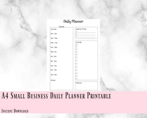 Printable Small Business Daily Planner