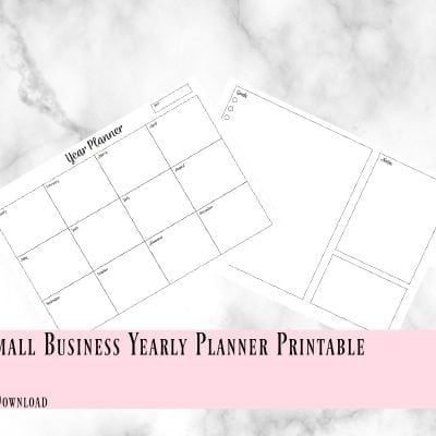Printable Small Business Yearly Planner