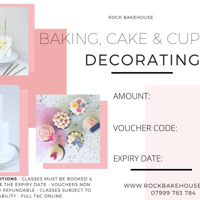 Cake Cupcake Decorating Gift Voucher
