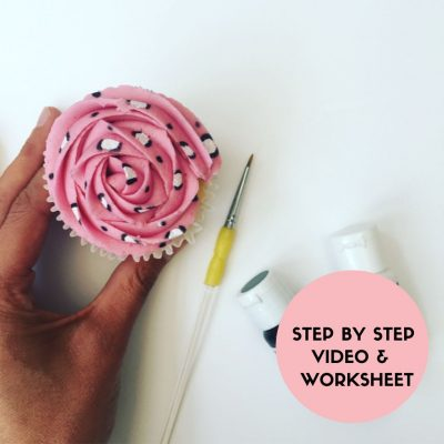 Animal Printed Painted Cupcake Class