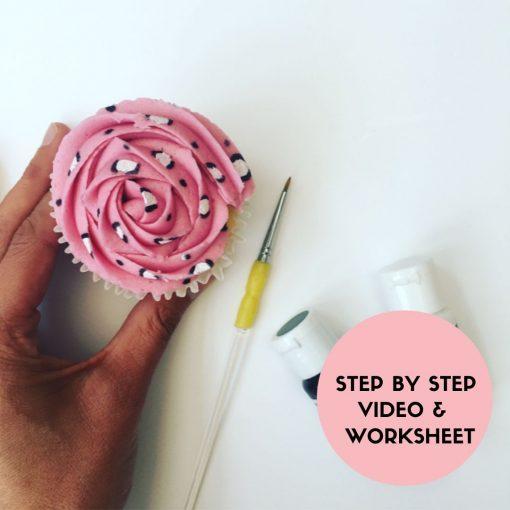 Animal Printed Painted Cupcake Class